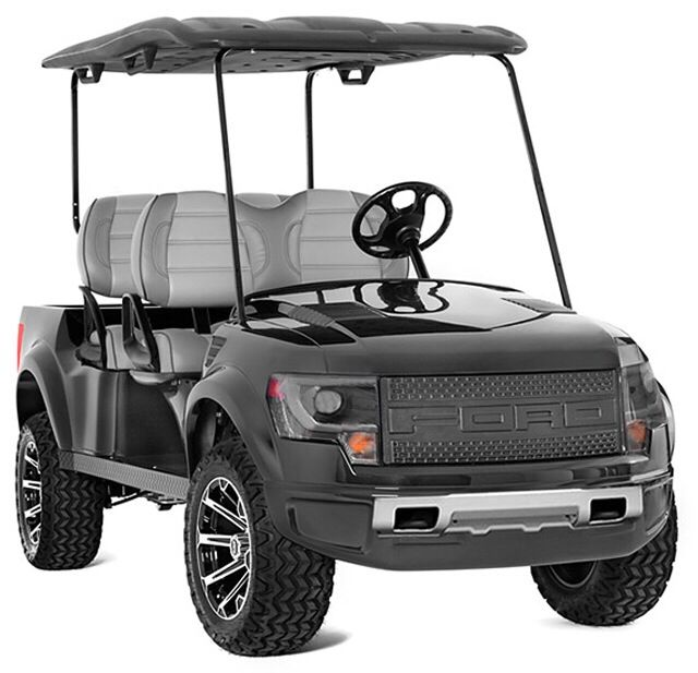 Ford Raptor Golf Cart http://www.ford-trucks.com/articles/the-ford-f-150-svt-raptor-golf-cart-price-announced/