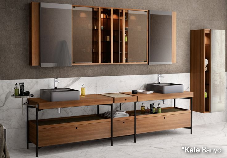 Büyük banyolar dikkatlice dekore edildiğinde çok estetik mekanlara dönüşür. Icon Maxi, geniş depolamaya olanak sağlayan dolapları ile size modern bir yaşam alanı yaratıyor.  #Kale #banyo #tasarım #bathroom #bathroomidea #dekorasyon #dekorasyonönerileri #decorationidea #bathroomfurniture