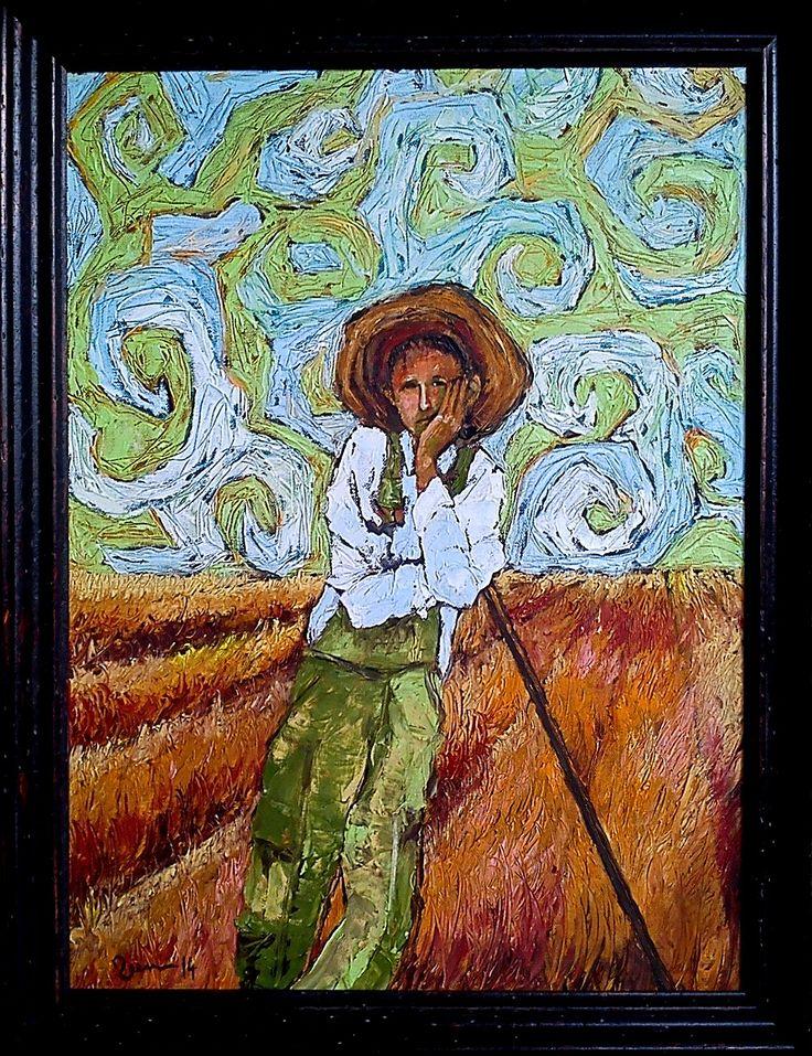 Veen 2014 Farmer son Oil on canvas 65x50.