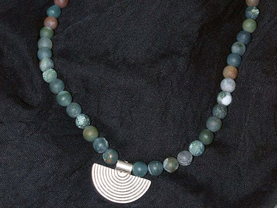 Agate Necklace Unique Necklace Bohemian Necklace Stylish