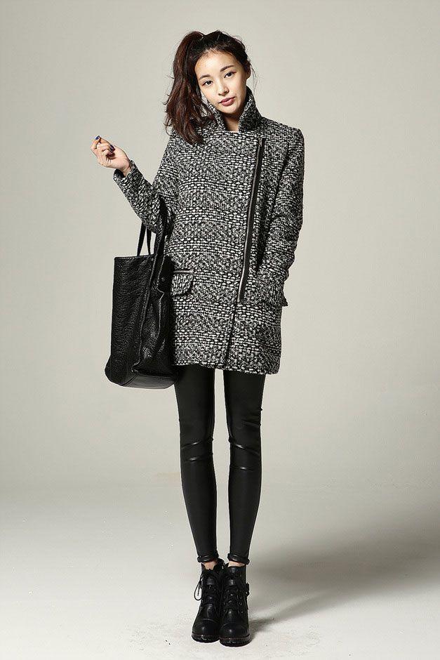 Wool Mannish BW Coat