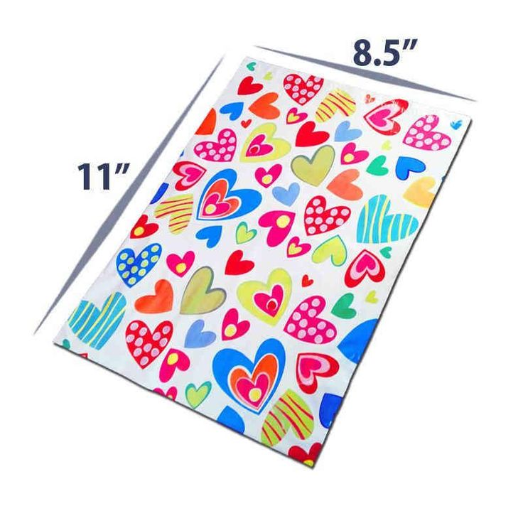 Shop 8.5 x 11 Premium Printed Gift Envelopes & Gift Packing Bags With Hearts at Best Price. Hurry Up!!!!