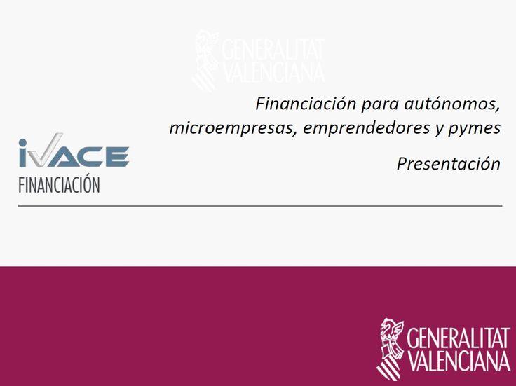 En la #ponencia, Mercedes Lavilla, Gerente de Riesgos de #IVACE #Financiación nos presenta las lineas de ayudas que tiene IVACE en 2015 para #Autónomos, #Microempresas, #Emprendedores y #Pymes  #EmprenemJunts #JornadaCEEI #Elche  Haz clic en la imagen para descargar la ponencia.