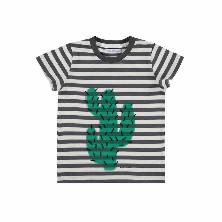"""Jongen - tshirt KM """"cactus"""" - tshirt KM """"cactus"""" - T-SHIRTS - Filou - Filou & Friends"""