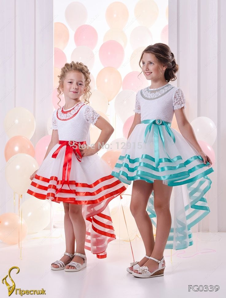 ==> [Free Shipping] Buy Best White Hi lo Flower Girls Dresses For Wedding Party 2017 Shoet Sleeve Organza Lace Lovely Little Kids cupcake For Pageant Glitz Online with LOWEST Price   32723861164