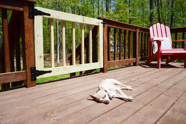 How to build a deck gate to keep kids and pets in (or out).