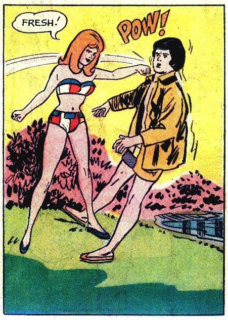 """FRESH!! "",Very BennyHill! Funny Vintage Comic Illustration."