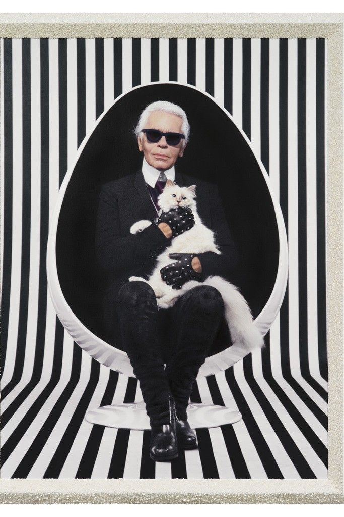 For your eyes only, (Karl Lagerfeld), 2013 [Photo Courtesy of Pierre et Gilles and Galerie Daniel Templon, Paris]