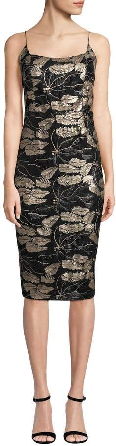 mestiza Women's Beaded Floral Sheath Dress