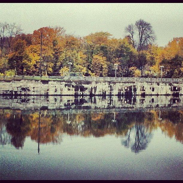 Welland canal in autumn