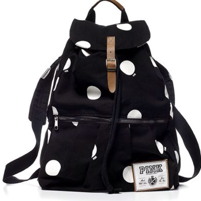 Wantt: Fashion, Victoria Secret Pink, Schools, Style, Victoria Secret Backpacks, Polka Dots Backpacks, I'M, Pink Backpacks, Bags