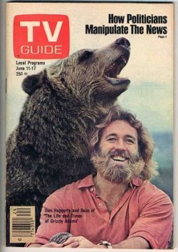 """THE LIFE AND TIMES OF GRIZZLY ADAMS"", PICTURED: BEN & DAN HAGGERTY (1974)"
