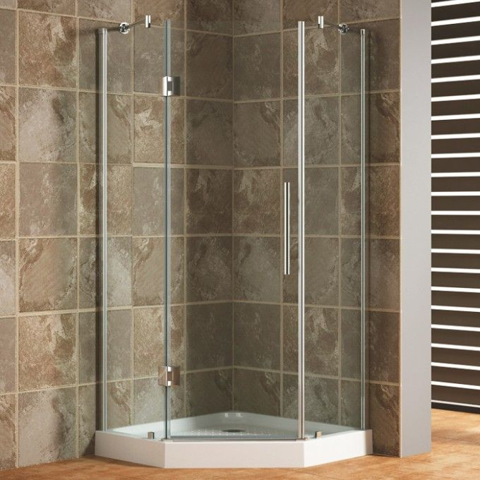 "36"" x 36"" Frameless Neo-Angle Corner Shower Enclosure - Shower - Bathroom"