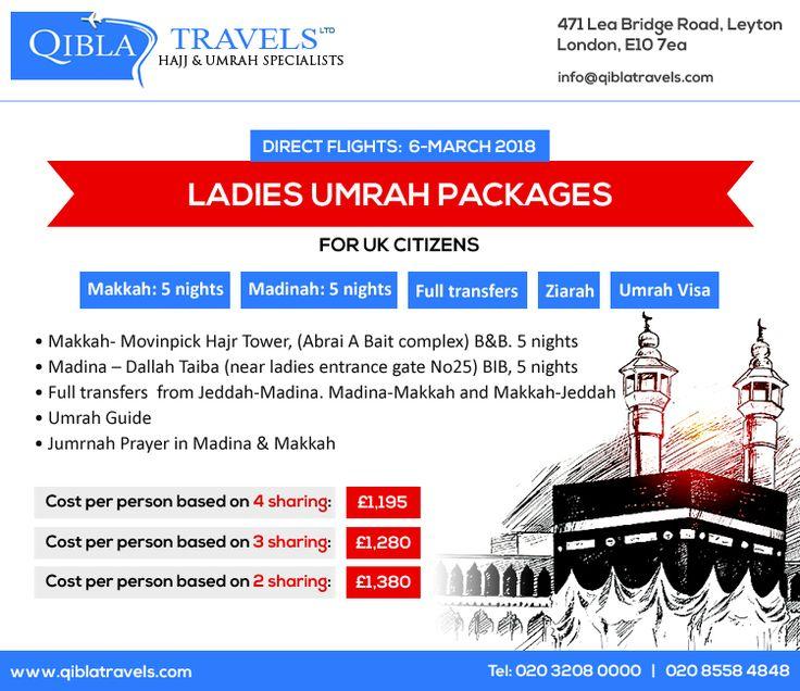 Ladies Umrah package UK (Age 45+) are available. #Ladies #Umrah #Muslimwomen #Umrahpackage #Islam #Peace #Women #Qiblatravels