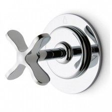 Ludlow Icon Two Way Thermostatic Diverter Valve Trim with Metal Cross Handle
