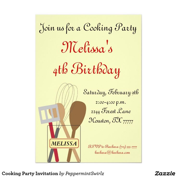 46 best Party invitations images on Pinterest | Baking, Cooking ...