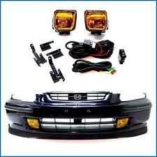 New~Honda Civic EK EK4 EK9 Yellow Glass Fog Light Kits + Harness + Switch 96-98