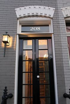 Do this on front door...but carve numbers out of frosted vellum and insert over in-the-door window.