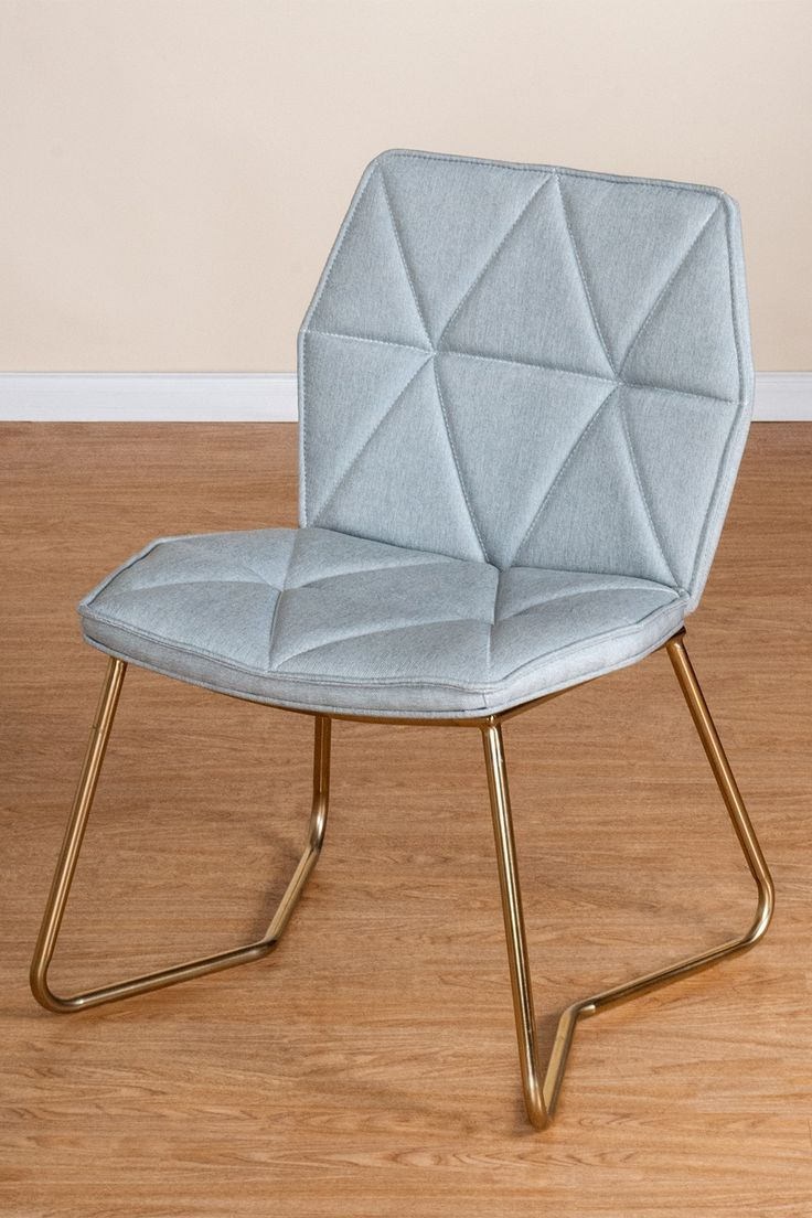 Grey/Gold Tatiana Chair by Statements by J on @HauteLook