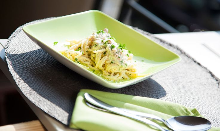 Alpro - Pasta carbonara - Verrukkelijk pasta gerecht met Alpro Cuisine