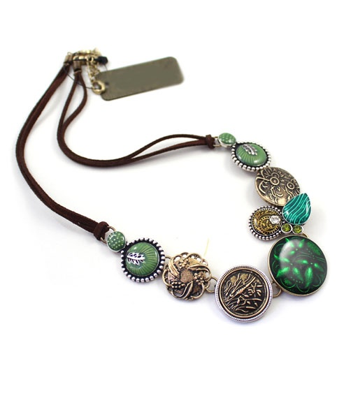 Long Retro Pendant Necklace