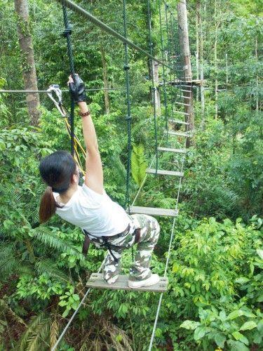 Skytrex Adventure - Kuala Lumpur - spannend genoeg, Niels, Max, Mees, Lizzy?