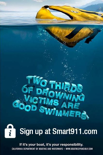 2/3 of drowning victims are good swimmers. Always wear a ...