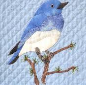 Mountain Bluebird Block (Idaho, Nevada) - via @Craftsy