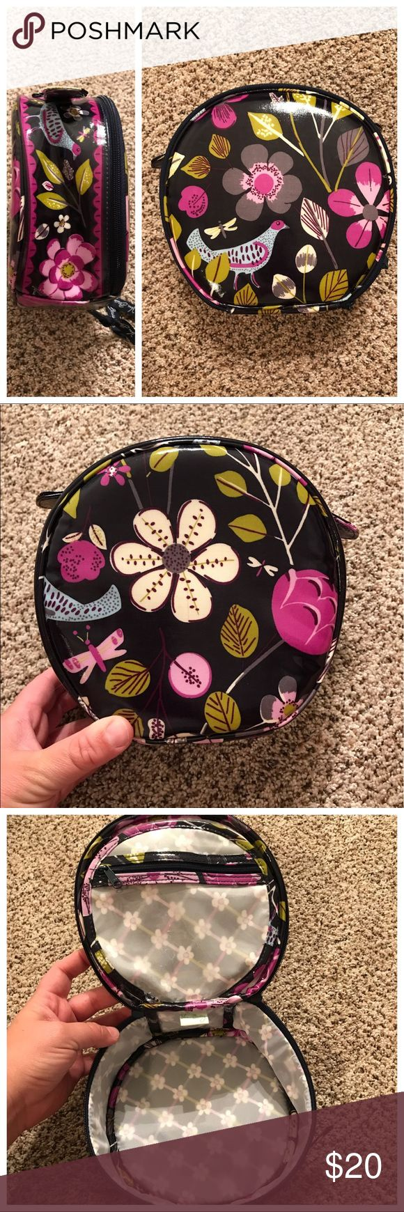 Vera Bradley Travel Case Vera Bradley Travel Case in excellent condition.  Great for cosmetics or travel Size products.  Measurements: across the middle 8 inches and 3 inches tall. Vera Bradley Bags Travel Bags