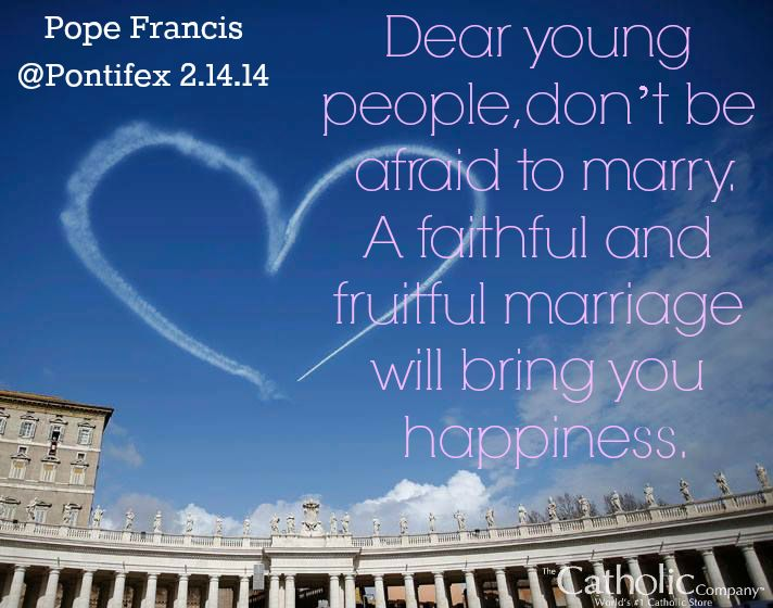 Pope Francis' St. Valentine's message to engaged Catholic couples in Rome.