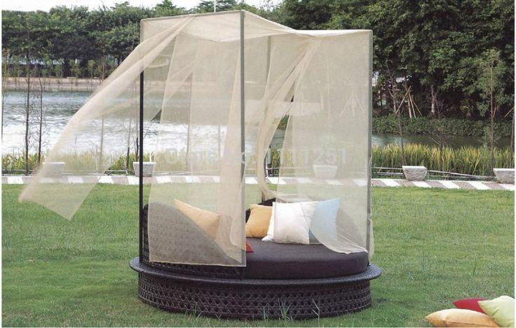 Мебель сад диван стул комплект пэ ротанг кровать шезлонги комплект на открытом воздухе для дома Deck у бассейна двор