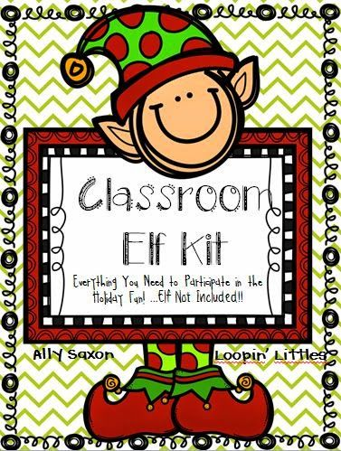 Everything you need to start or revamp your Classroom Elf on the Shelf! Parent letters, student journals, elf files binder pages, and full of classroom ideas!  Loopinglittles.blogspot.com