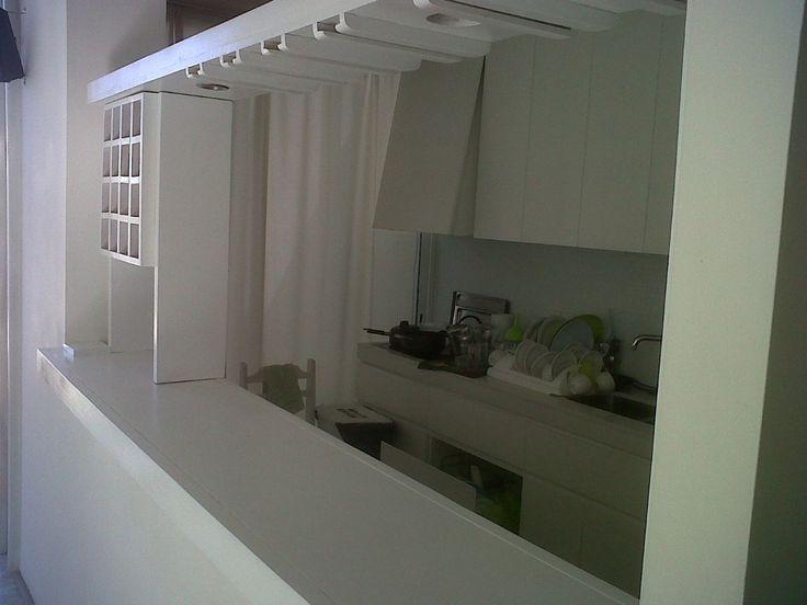 Mueble barra pasaplatos living pasaplatos pinterest for Cocinas profesionales para el hogar