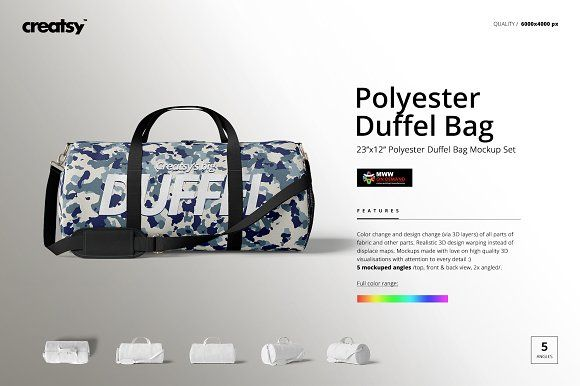 Download Duffel Bag Mockup Set 23x12 Bag Mockup Duffel Bag Duffel