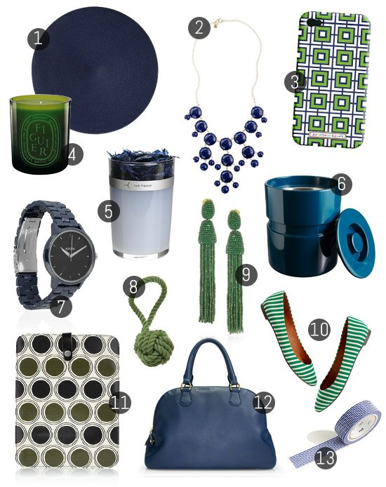 green and navy: Color Combos