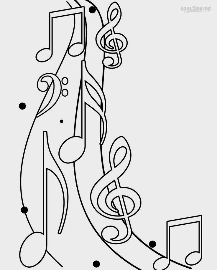 283 best coloring pages images on pinterest coloring for Music notes coloring page