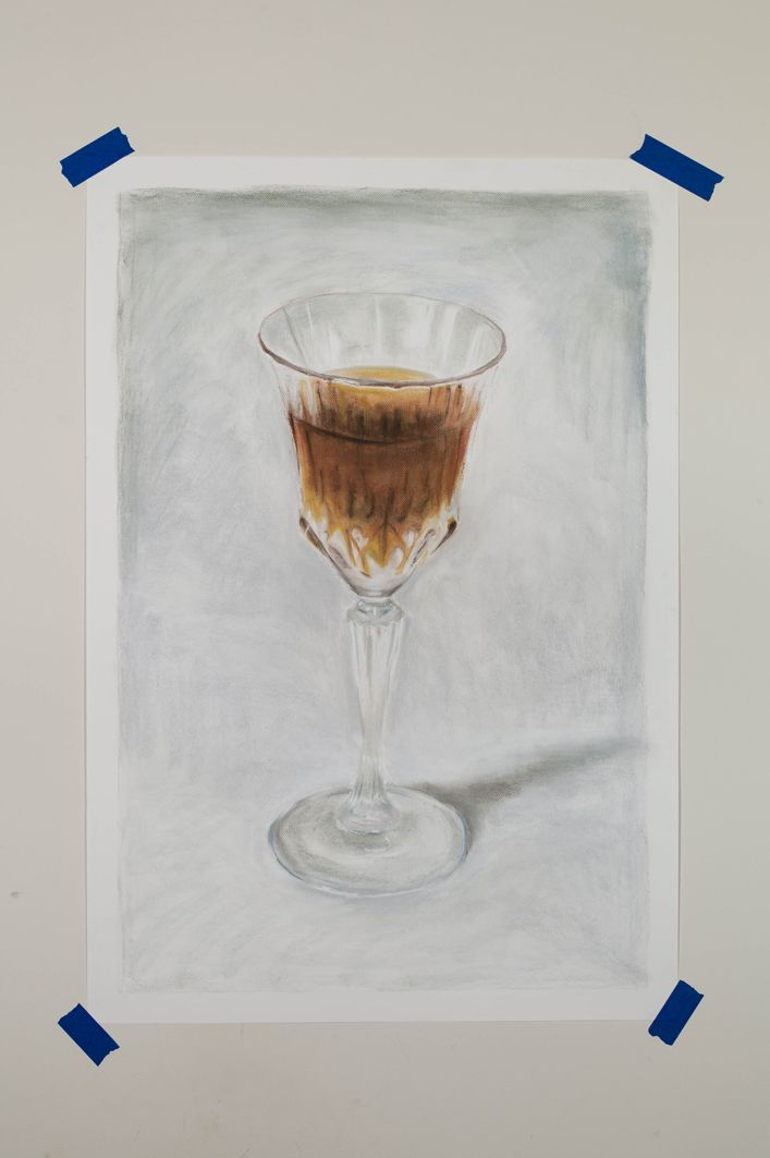 Michiel Pelerents, artist: GlassPastel on paper, 65x100cm. Photo by Cedric Verhelst