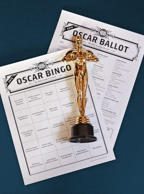 Because you have to have an Oscars ballot and Oscars bingo card printable, right?