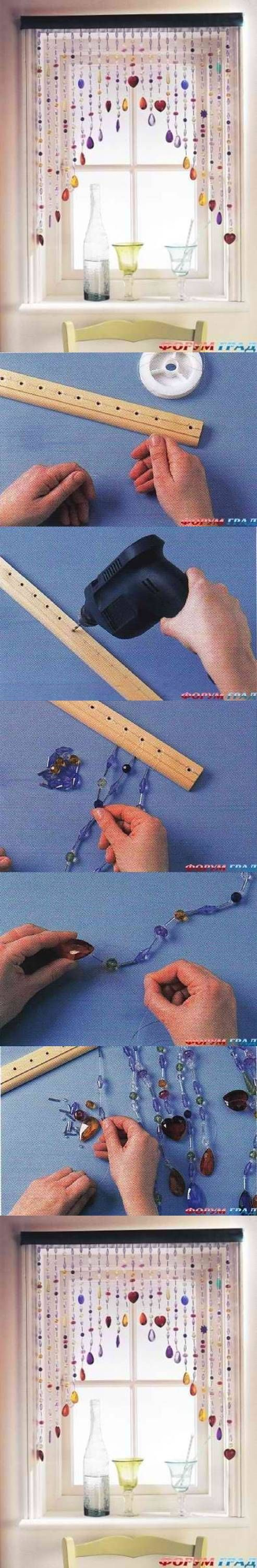 DIY Cute Blinds Curtain: