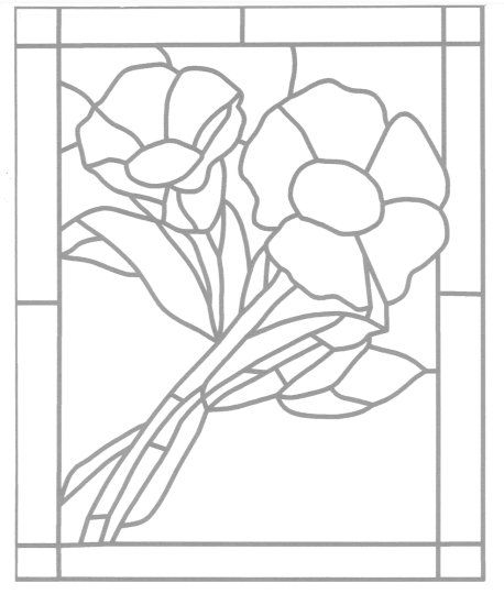 how to cut stained glass patterns