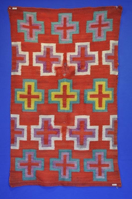 Antique Navajo Indian Saddle Blanket  c.1890