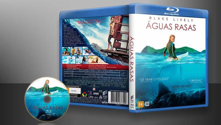 Águas Rasas (Blu-Ray) - Capa   VITRINE - Galeria De Capas - Designer Covers Custom   Capas & Labels Customizados