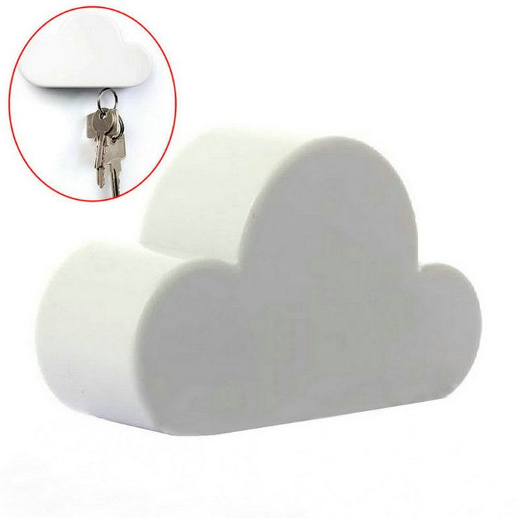 Lovely Fashion White Creative Novelty Cloud Shape Magnetic Key Holder Home Keychain  IT Amazing Ideas