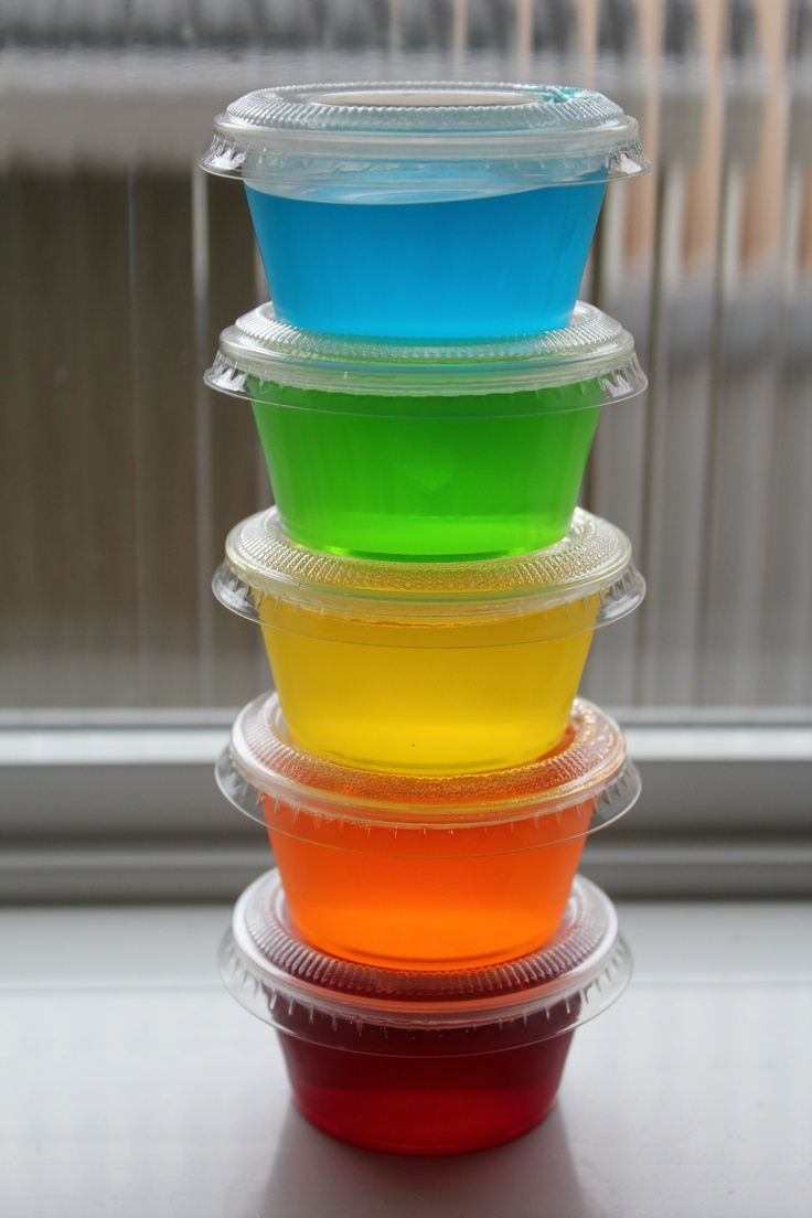Party time with jello shooters