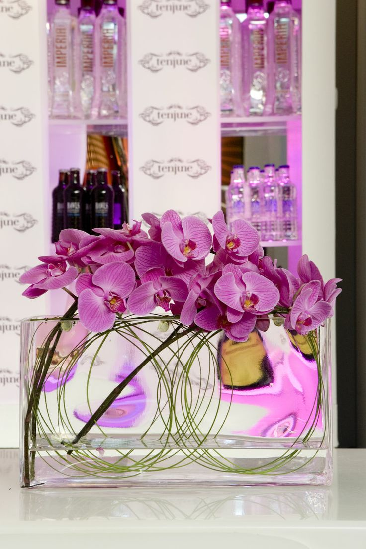 Orchids On Ice By Ovando W Szkle Pinterest Flower Arrangements And Corporate Flowers