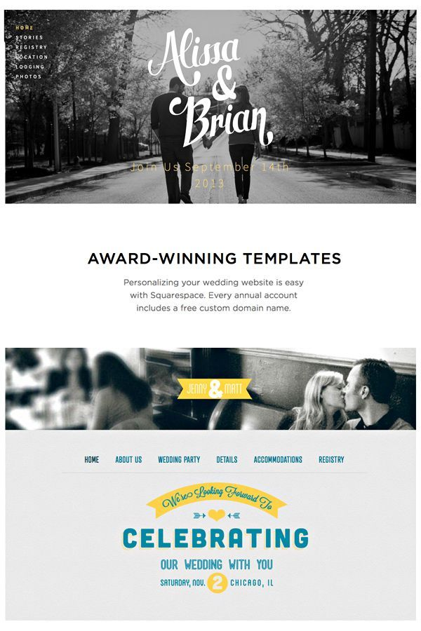 Stunning Wedding Website Templates From Squaree
