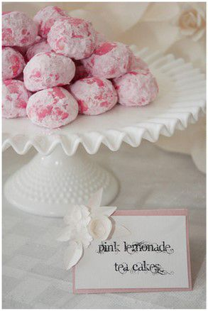 Pink Lemonade Teacakes, Secret Garden Baby Shower