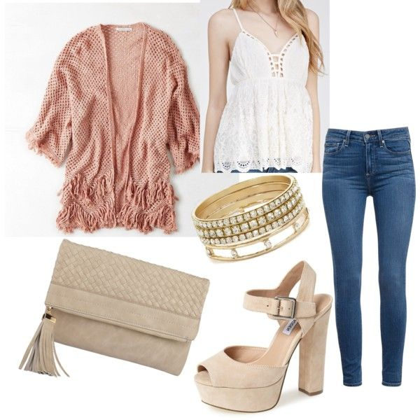 Untitled #152 by serdarsa on Polyvore featuring American Eagle Outfitters, Forever 21, Paige Denim, Steve Madden and BCBGeneration