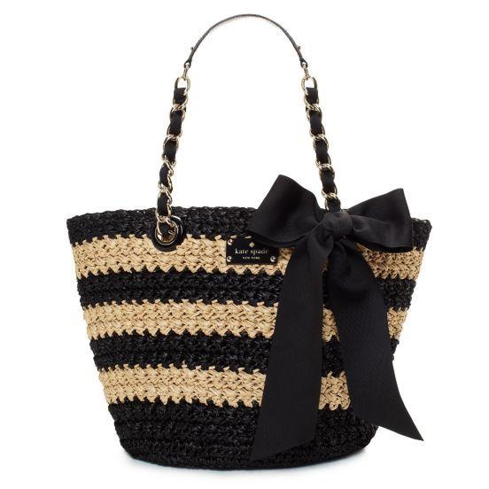 love - cute summer bag!!: Woman Fashion, Design Handbags, Summer Bags, Straws Bags, Summer Accessories, Beaches Bags, Summer Chic, Kate Spade, Fabrics Purses