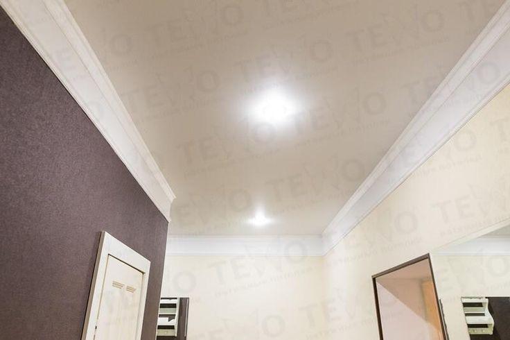 Натяжные потолки Техо. Белый матовый потолок со встроенными светильниками в Лиде #Lida #Belarus #Texo #Ceilings #Design